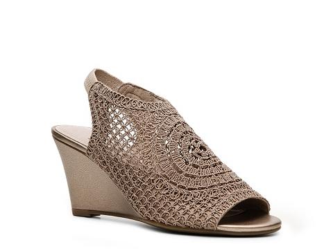 Sandale Impo - Vasin Crochet Wedge Sandal - Beige
