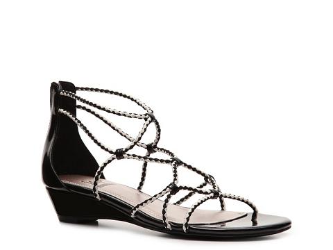 Sandale Impo - Ray Wedge Sandal - Black/White