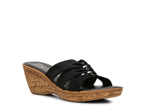 Sandale Italian Shoemakers - Whimsy Wedge Sandal - Black