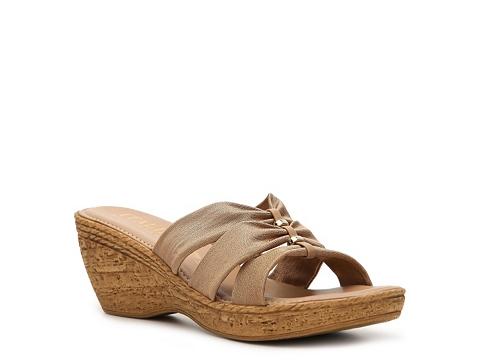Sandale Italian Shoemakers - Whimsy Wedge Sandal - Brown