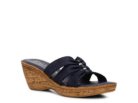 Sandale Italian Shoemakers - Whimsy Wedge Sandal - Navy