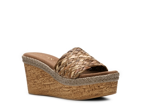Sandale Italian Shoemakers - Banyan Wedge Sandal - Brown