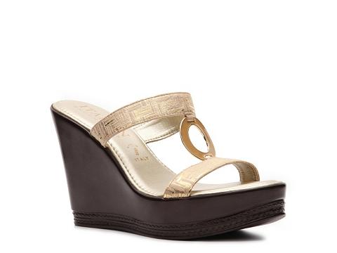 Sandale Italian Shoemakers - Monroe Wedge Sandal - Gold