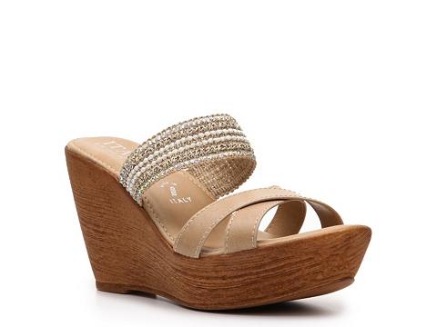 Sandale Italian Shoemakers - Morrow Wedge Sandal - Beige