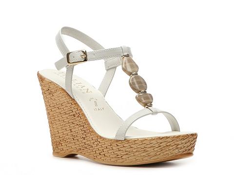 Sandale Italian Shoemakers - Milan Wedge Sandal - White