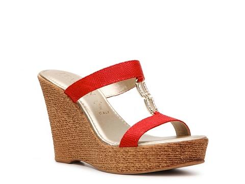 Sandale Italian Shoemakers - Milton Wedge Sandal - Red