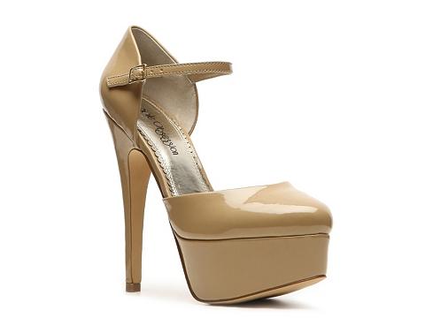Pantofi Sole Obsession - Hairpin Platform Pump - Nude