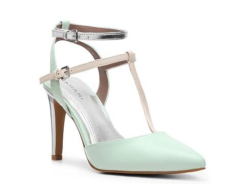 Pantofi Tahari - Sarina Metallic Pump - Mint Green
