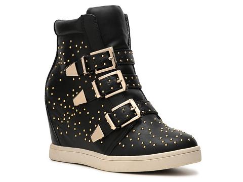 Adidasi Wanted - Gramercy Wedge Sneaker - Black