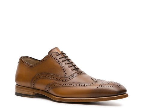 Pantofi Antonio Maurizi - Marcario Wingtip Oxford - Tan/Brown