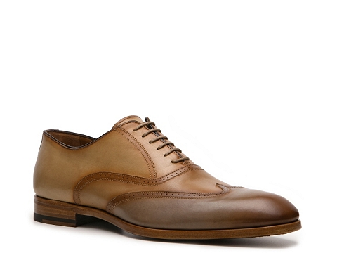 Pantofi Antonio Maurizi - Damiani Wingtip Oxford - Tan/Brown/Grey