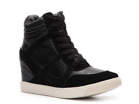 Adidasi Wanted - Wooster Wedge Sneaker - Black