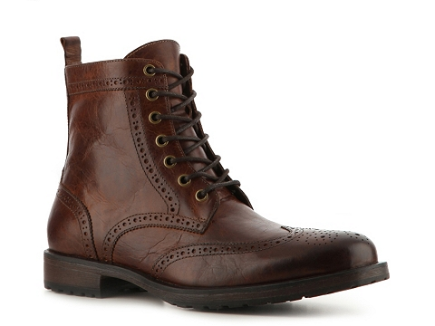 Pantofi Aston Grey - Cable Wingtip Boot - Burnished Brown