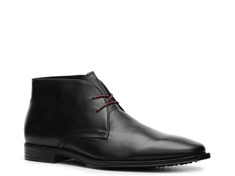 Pantofi Aston Grey - Hale Chukka Boot - Black/Red