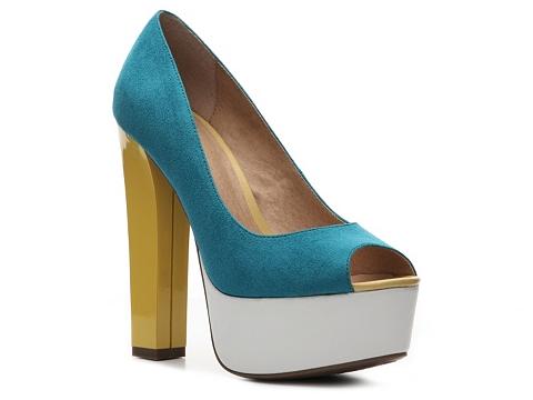 Pantofi Zigi Soho - Jaclyn Color Block Pump - Turquoise