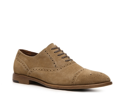 Pantofi Aston Grey - Crocket Oxford - Tan