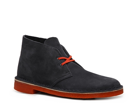 Pantofi Clarks Originals - Desert Boot - Navy Blue/Orange