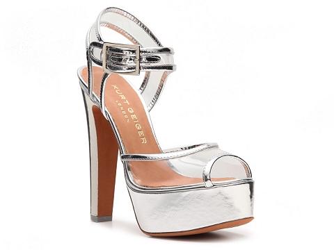 Sandale Kurt Geiger - London Gwen Platform Sandal - Silver