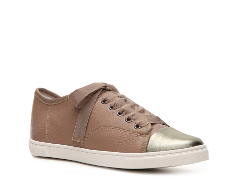 Adidasi Lanvin - Leather Cap Toe Sneaker - Taupe