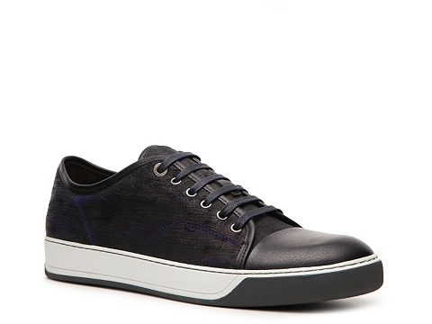 Pantofi Lanvin - Distressed Leather Sneaker - Navy/Black