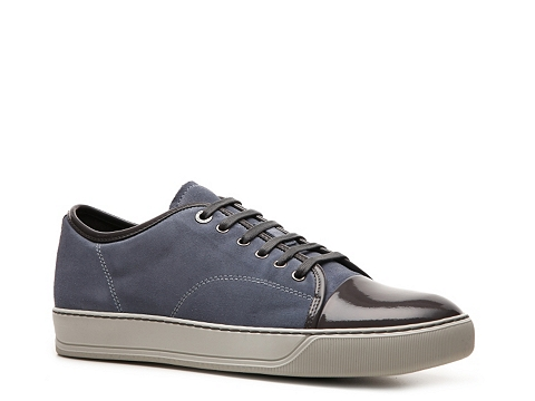 Adidasi Lanvin - Suede Cap Toe Sneaker - Light Blue/Grey