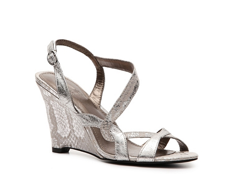 Sandale M by Marinelli - Bell Wedge Sandal - Silver