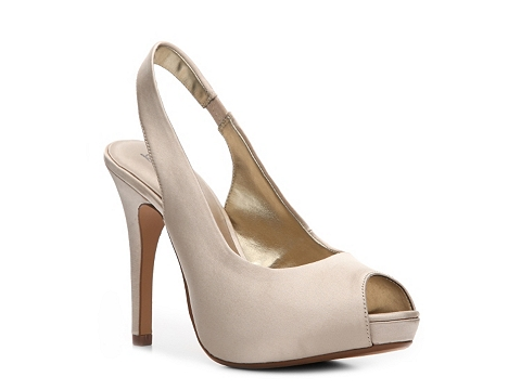 Pantofi Lulu Townsend - Nightout Satin Pump - Champagne Satin