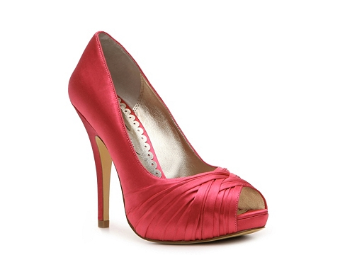 Pantofi Lulu Townsend - Bridal Gretchen Satin Pump - Coral