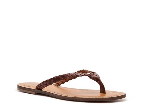 Sandale Mercanti Fiorentini - Braided Flat Sandal - Brown