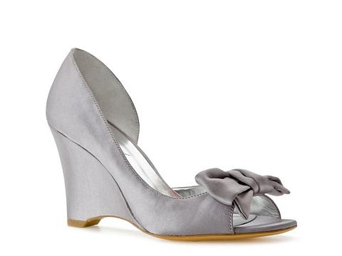 Pantofi Lulu Townsend - Chic Wedge Pump - Silver