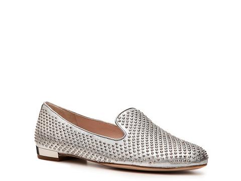 Balerini Miu Miu - Metallic Leather Studded Flat - Silver