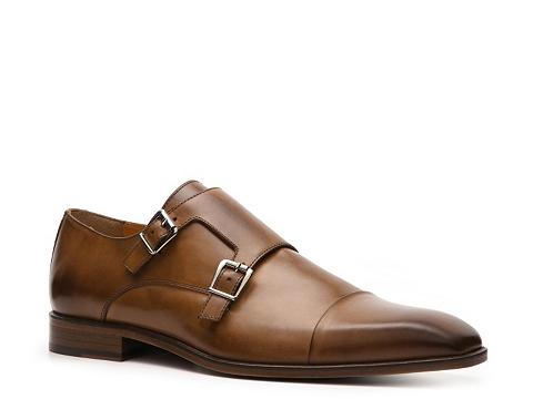 Pantofi Mercanti Fiorentini - Double Monk Slip-On - Burnished Tan