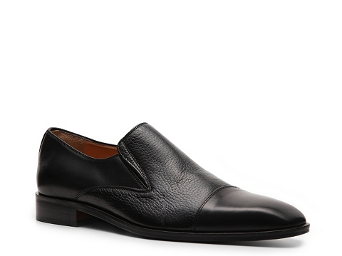 Pantofi Mercanti Fiorentini - Cap Toe Slip-On - Black