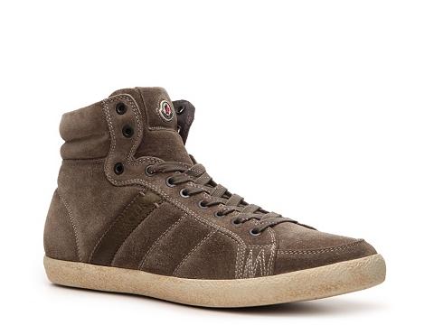 Pantofi Moncler - Lyon Suede Sneaker - Olive Green