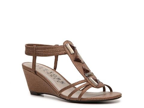 Sandale New York Transit - Greetings Wedge Sandal - Bronze