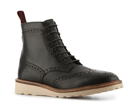 Ghete Natha Studio - Leather Wingtip Boot - Black