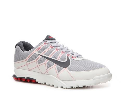 Pantofi Nike Golf - Nike Air Range WP II Golf Shoe - Mens - White/Red/Grey