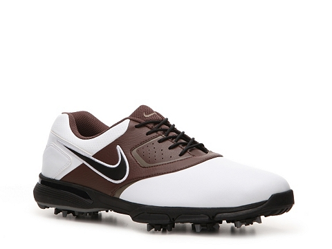 Pantofi Nike Golf - Nike Heritage Golf Shoe - Mens - White/Brown/Black