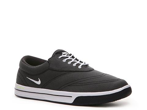 Adidasi Nike Golf - Nike Lunar Swingtip Suede Golf Shoe - Mens - Black/White