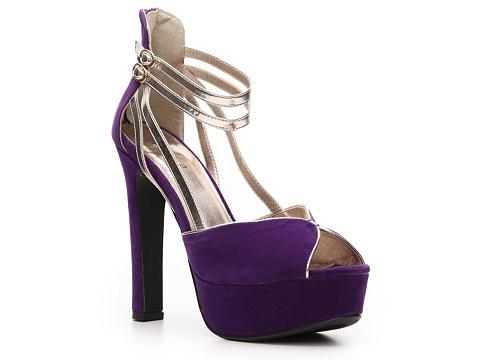 Sandale Qupid - Drama-36 Suede Pump - Purple