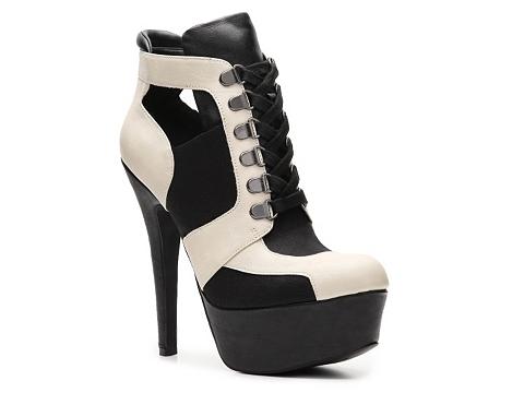 Pantofi Qupid - Task-31 Bootie - Beige/Black