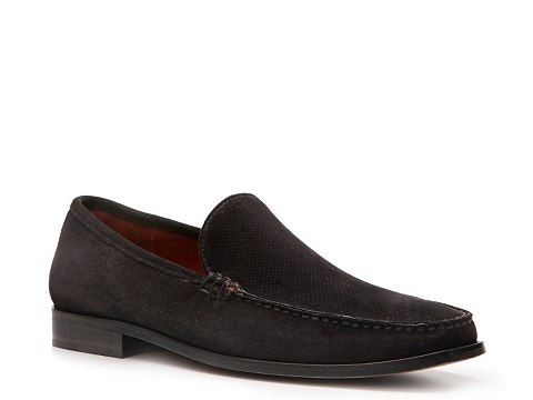 Pantofi Robert Zur - Perforated Suede Loafer - Black