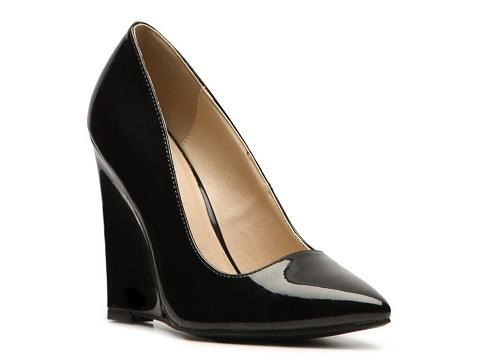 Pantofi Qupid - Meester-01 Wedge Pump - Black