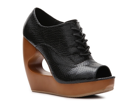 Pantofi Qupid - Lisbeth-06 Wedge Bootie - Black