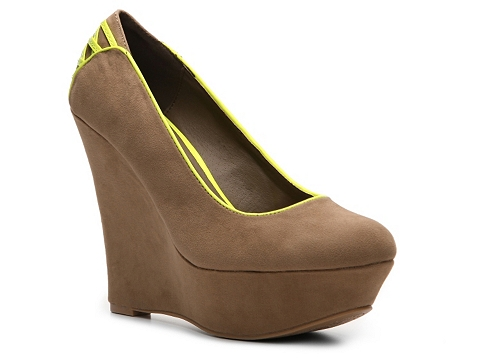 Pantofi Qupid - Worthy-60 Wedge Pump - Taupe