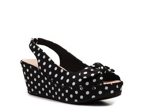 Sandale Restricted - Gorgeous Wedge Sandal - Black/White