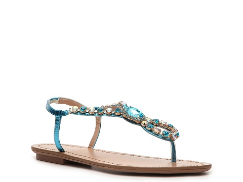 Sandale Restricted - Tap Twice Flat Sandal - Turquoise