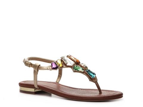 Sandale Restricted - Kally Flat Sandal - Gold