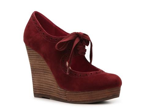 Pantofi Restricted - Reaction Wedge Heel - Burgundy