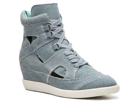 Adidasi Qupid - Patrol-22 Wedge Sneaker - Light blue
